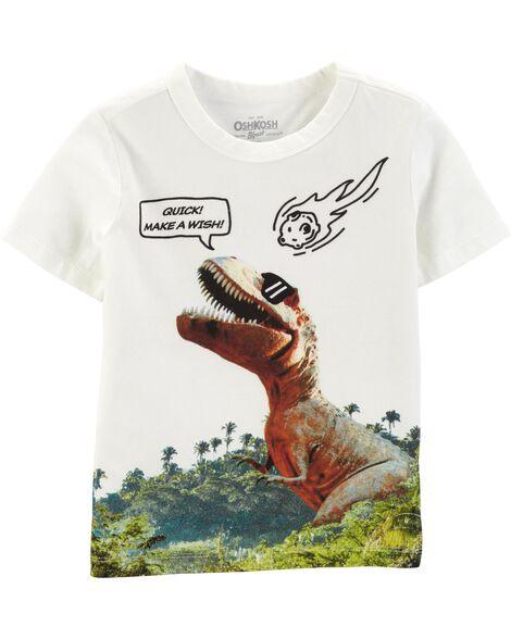 T-shirt à dinosaure Make a Wish
