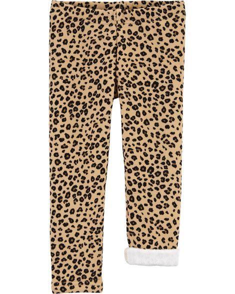 Leopard Cozy Fleece Leggings