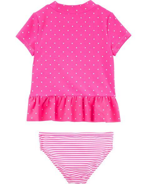 2-Piece Flamingo UV Swim Shirt Set