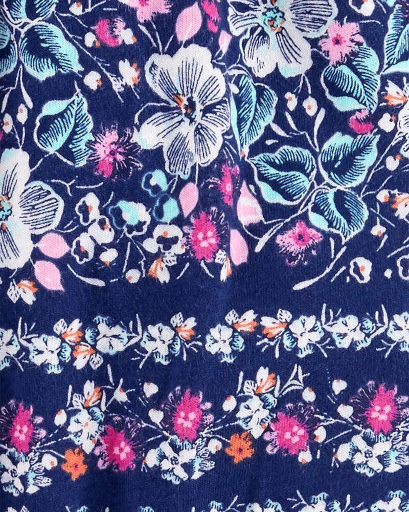 Barboteuse fleurie à pompon, , hi-res