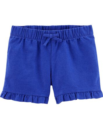 Ruffle Linen Shorts