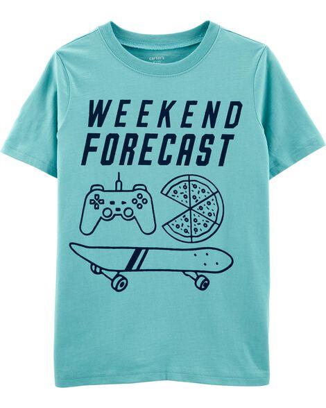 T-shirt en jersey à imprimé prévision météo