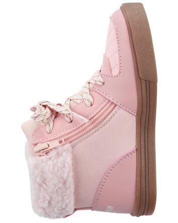 Chaussures fleuries de coupe haute