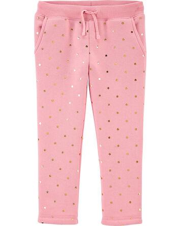 Polka Dot Fleece Pants
