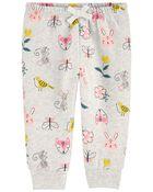 Floral Fleece Pants, , hi-res