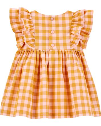 Ruffle Gingham Dress Set