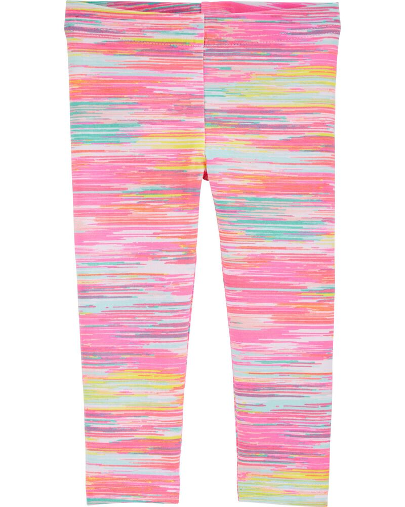 Pattern Capri Leggings, , hi-res