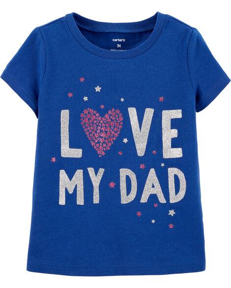 T-shirt en jersey Love My Dad