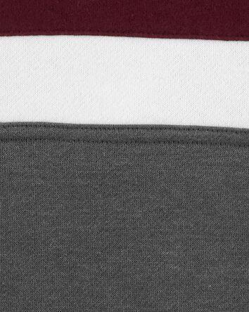 Colourblock Logo Fleece Hoodie