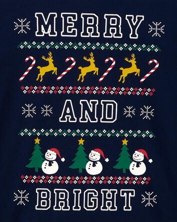 T-shirt en jersey Merry And Bright...