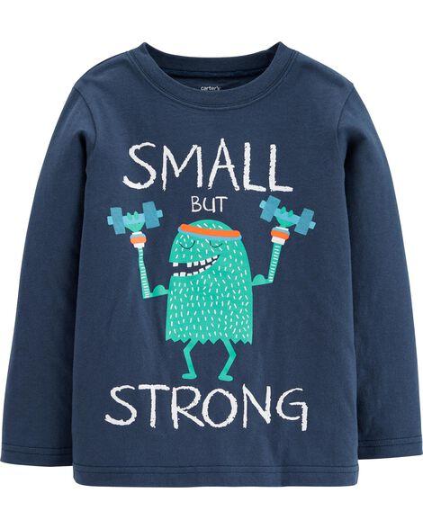 T-shirt en jersey à monstre Strong