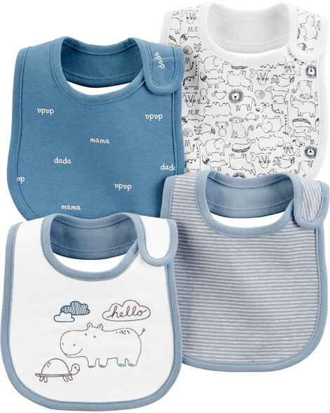 4-Pack Koala Teething Bib