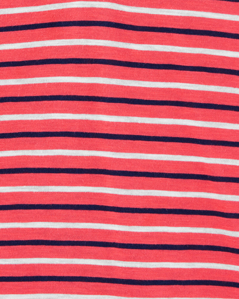 Striped Slub Jersey Romper, , hi-res