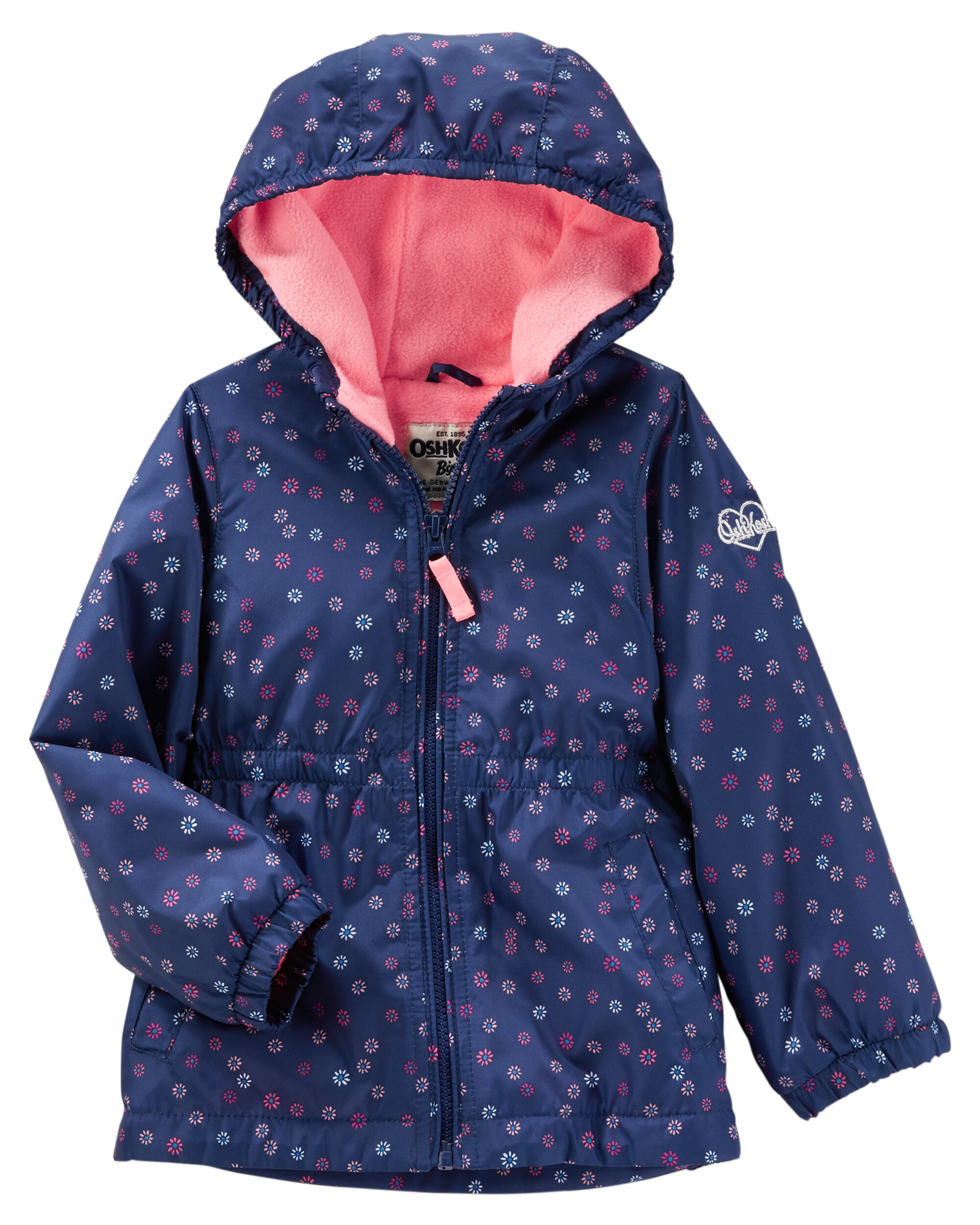 Carter/'s Infant Girls Pink Fleece Lined Midweight Jacket Size 12M 18M 24M