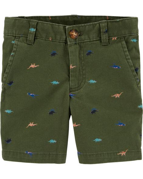 Dinosaur Flat-Front Shorts