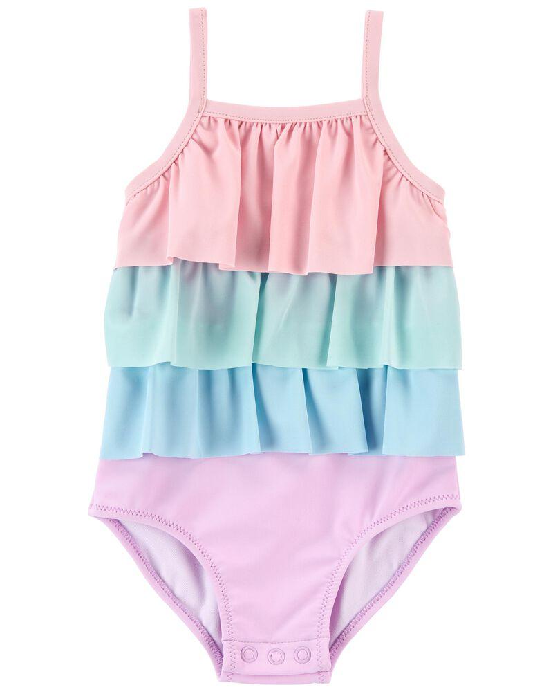 Ruffle 1-Piece Swimsuit, , hi-res