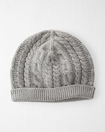 Organic Cable-Knit Cap