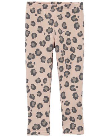 Legging douillet à imprimé léopard