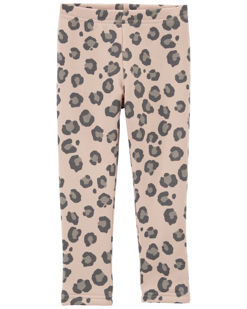 Legging douillet à imprimé léopard, , hi-res