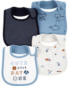4-Pack Animal Teething Bibs, , hi-res