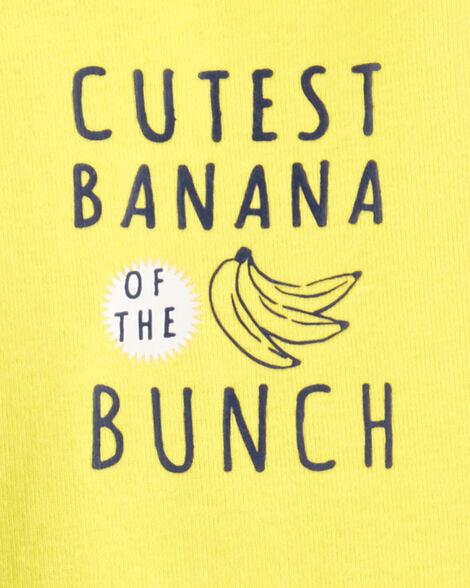 Ensemble 3 pièces haut à capuchon à motif banane