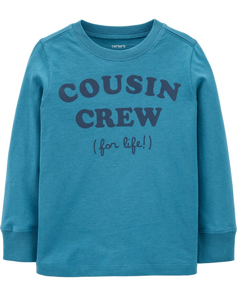 T-shirt en jersey à slogan Cousin Crew , , hi-res