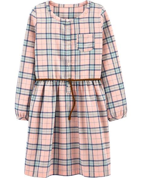 Plaid Shirt Dress