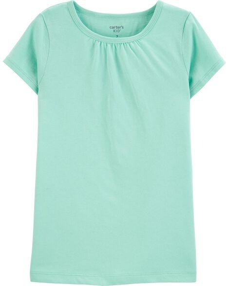 T-shirt en coton turquoise