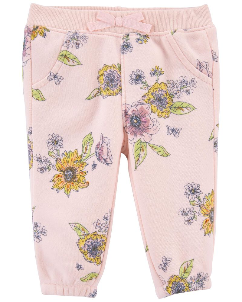 Floral Fleece Pants, , hi-res