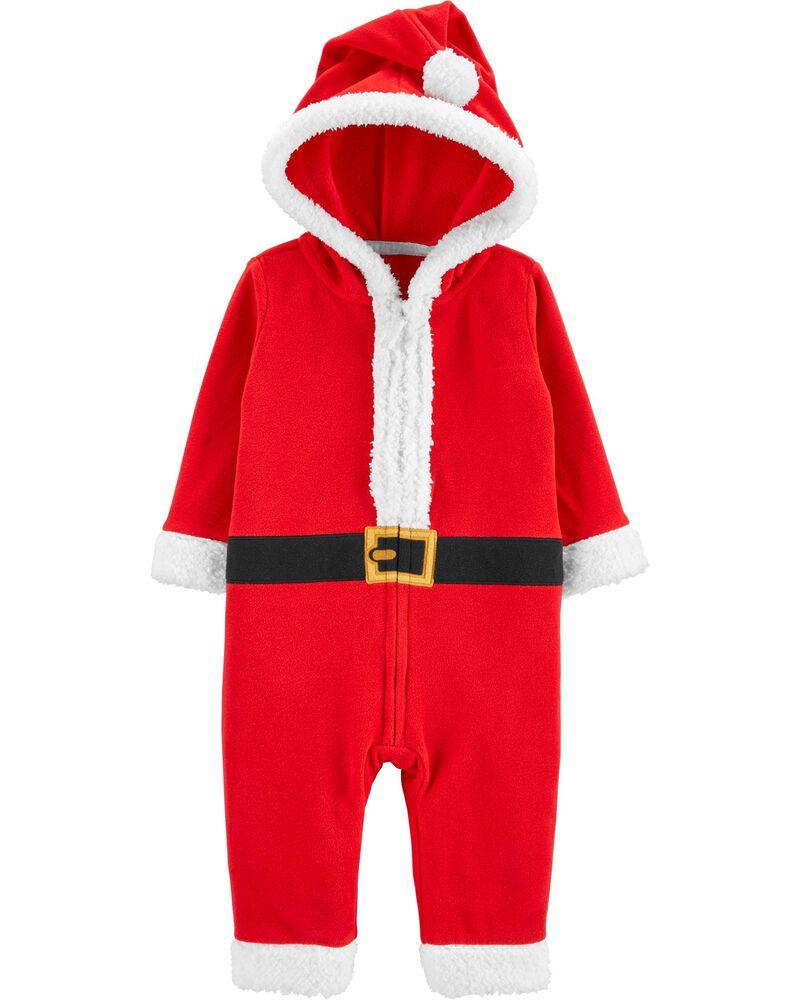 Santa Zip-Up Jumpsuit, , hi-res