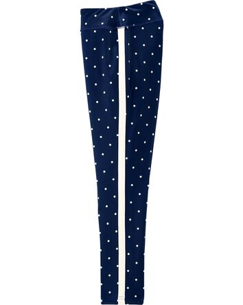 Polka Dot Cozy Fleece Leggings