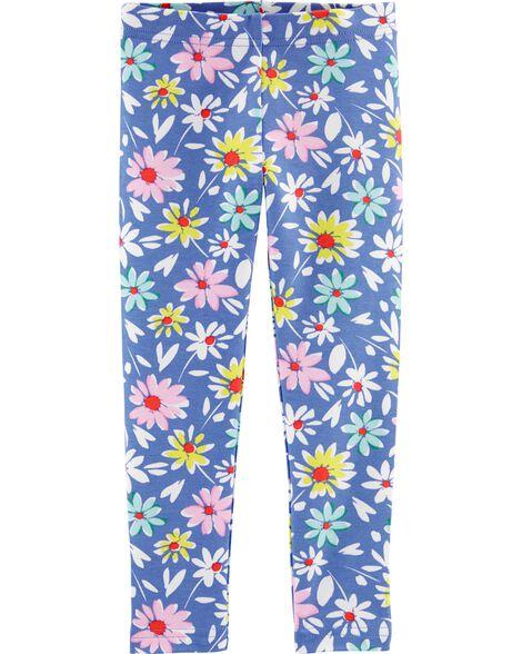 Legging en jersey fleuri