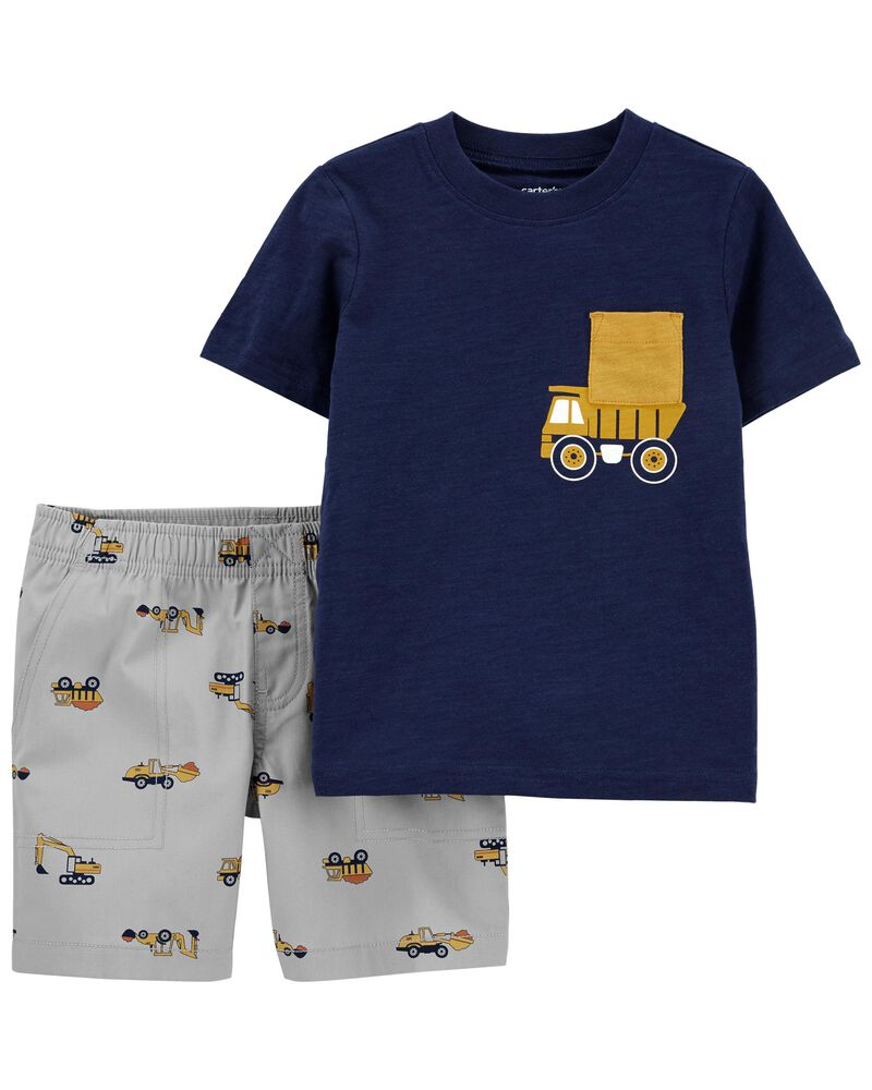 Ensemble 2 pièces t-shirt et short à camion, , hi-res