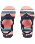 Sandales de plage rayées, , hi-res