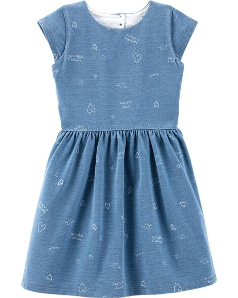 Heart French Terry Dress