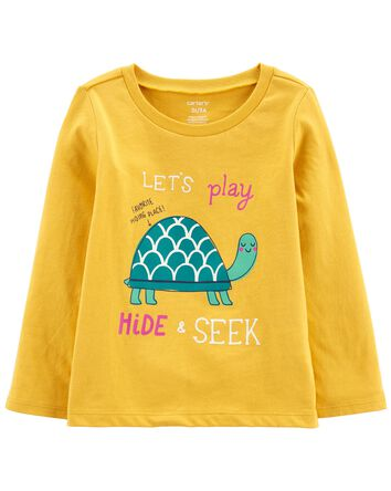 T-shirt en jersey à tortue