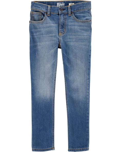 Regular Fit Skinny Jeans - Indigo Bright Wash
