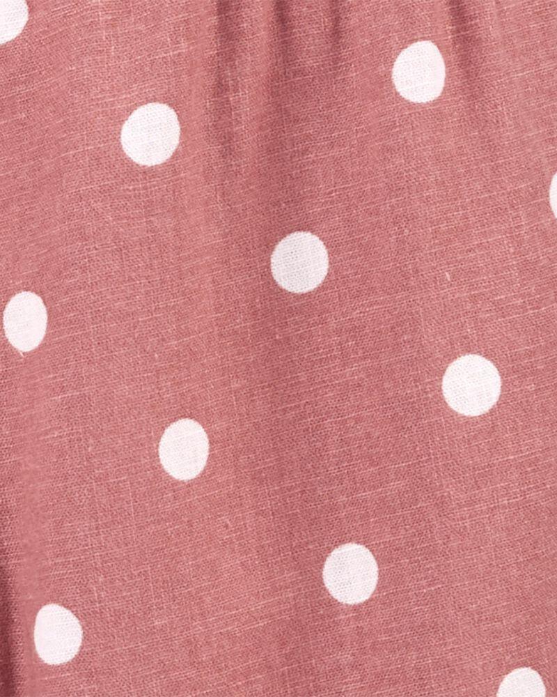 Polka Dot Ruffle Wide Leg Crop Jumpsuit, , hi-res