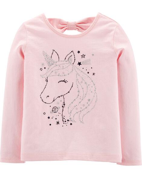 T-shirt à licorne scintillante