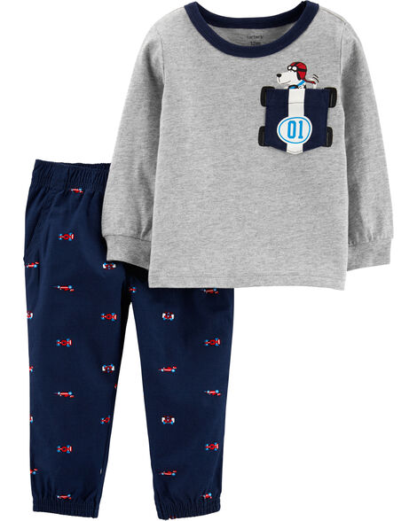 2-Piece Race Car Tee & Pant Set
