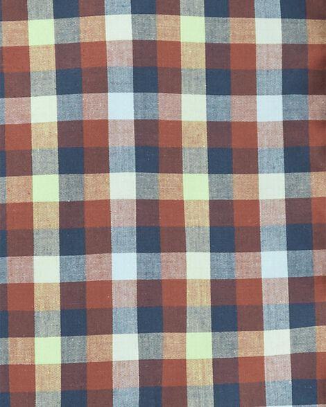 Ensemble 2 pièces chemise boutonnée à motif écossais et short en toile