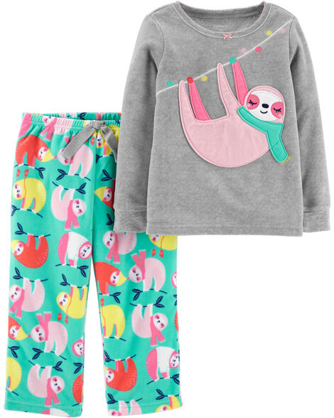 2-Piece Sloth Fleece PJs