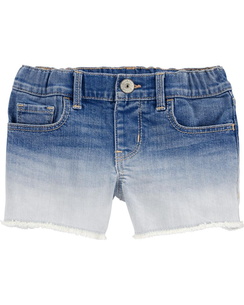 Dip-Dye Stretch Denim Shorts, , hi-res