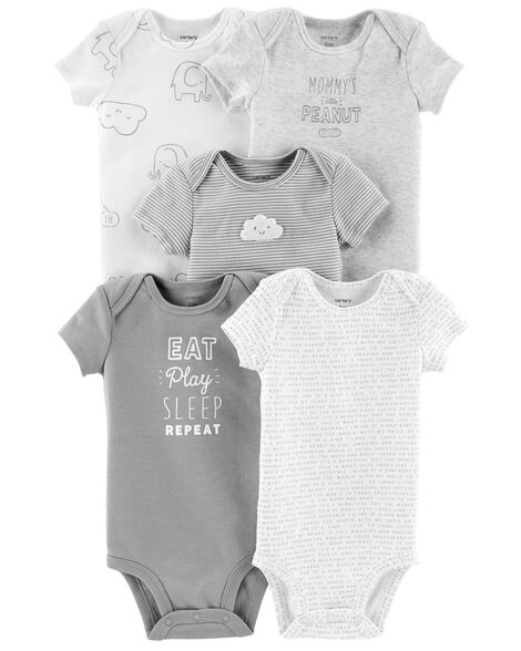5-Pack Neutral Original Bodysuits