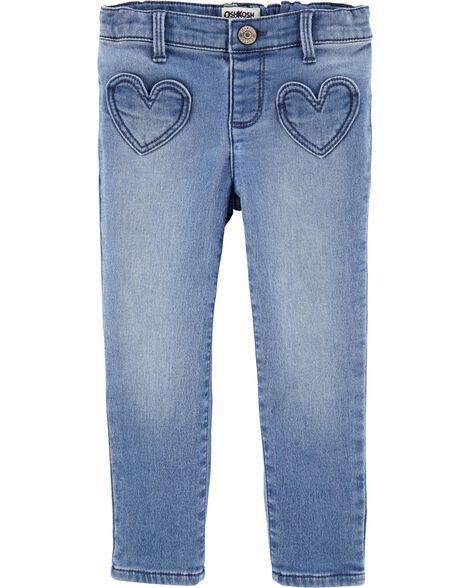 Heart Pocket Jeggings