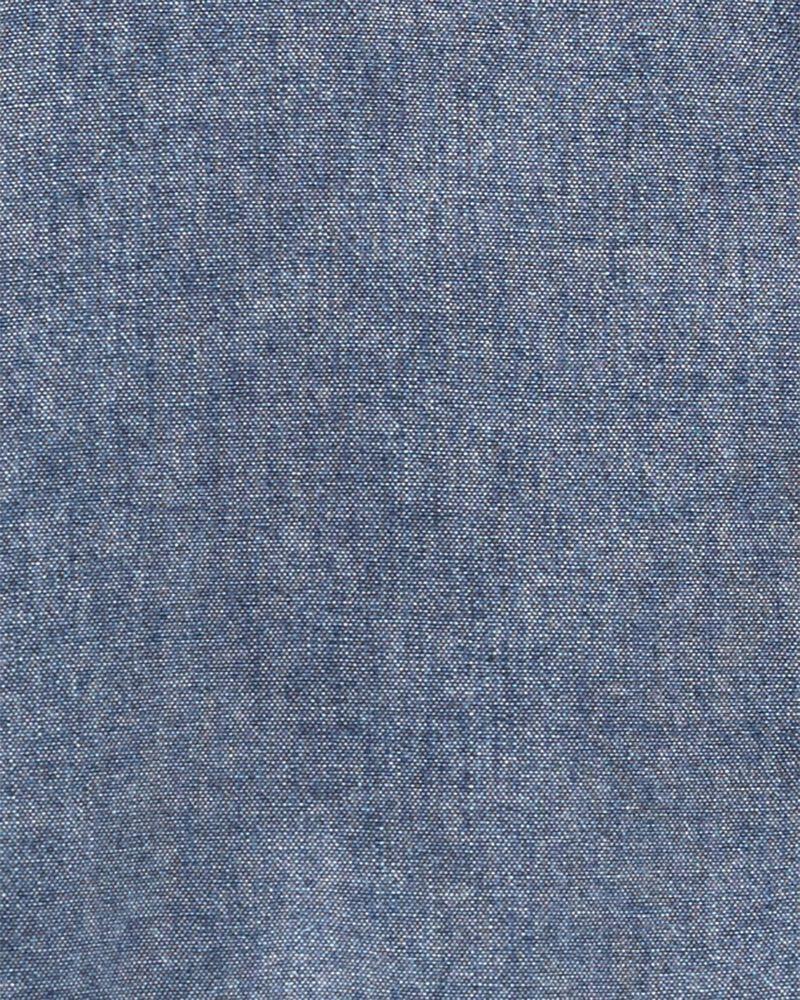 Ensemble 2 pièces chemise boutonnée en chambray et pantalon en toile , , hi-res