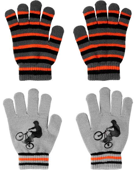 2 paires de gants BMX à paume antidérapante