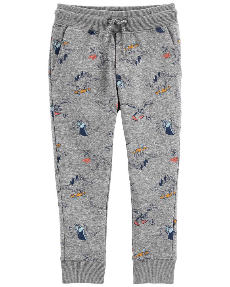 Pantalon de jogging en tricot avec motif de dinosaure, , hi-res