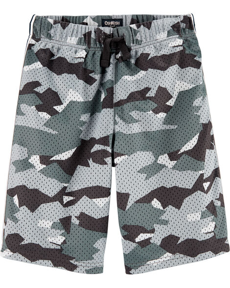 Short de basketball en filet camouflage