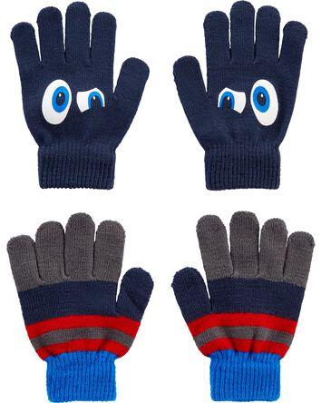 2 paires de gants Grands yeux à pau...